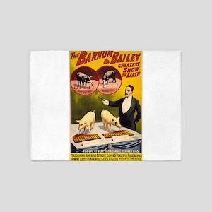 barnum and bailey 5'x7'Area Rug