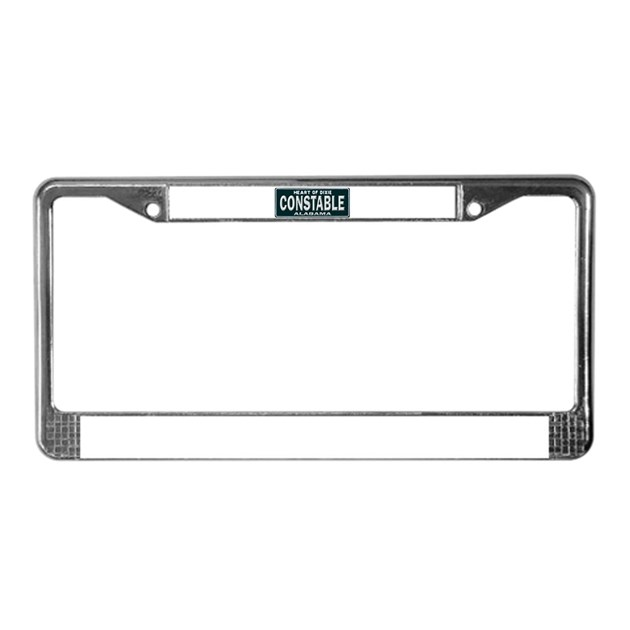 Alabama Constable License Plate Frame by PoliceandFireShoppe