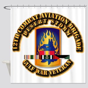 Army - DS - 12th Cbt Avn Bde Shower Curtain