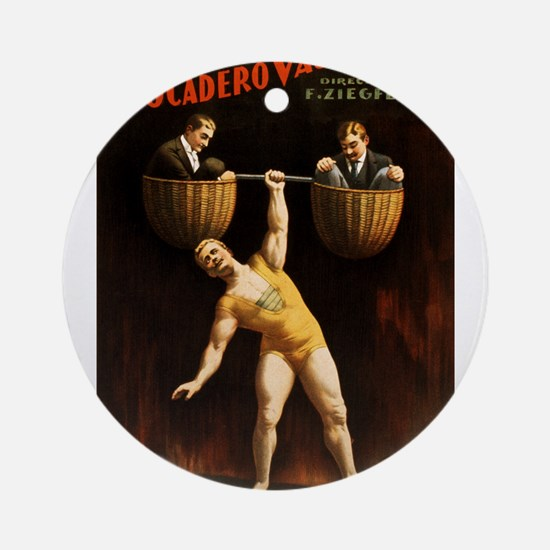 strongman Ornament (Round)