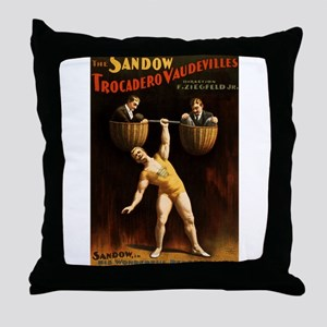 strongman Throw Pillow