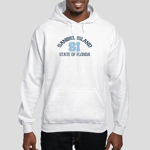 Sanibel Island - Varsity Design. Hooded Sweatshirt