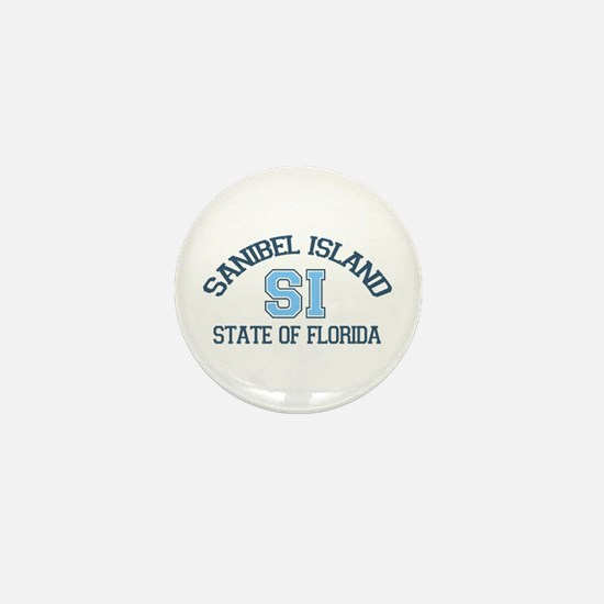 Sanibel Island - Varsity Design. Mini Button