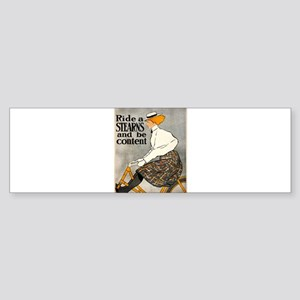 bicycle ad Sticker (Bumper)
