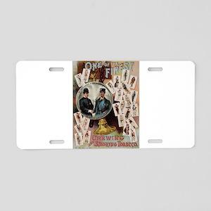 tobacco ad Aluminum License Plate