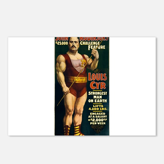 strong man Postcards (Package of 8)