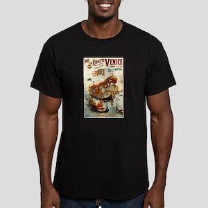 vaudeville poster Men's Fitted T-Shirt (dark)