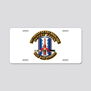 Army - DS - 197th IN Bde Aluminum License Plate