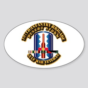 Army - DS - 197th IN Bde Sticker (Oval)