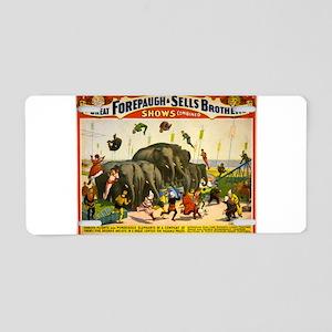 circus Aluminum License Plate