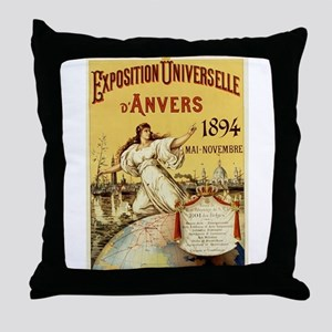 french poster Throw Pillow