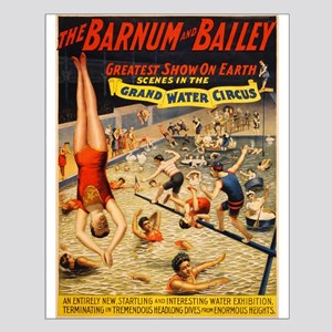 barnum and bailey circus Small Poster