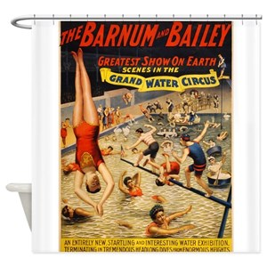 Circus Vintage Shower Curtains