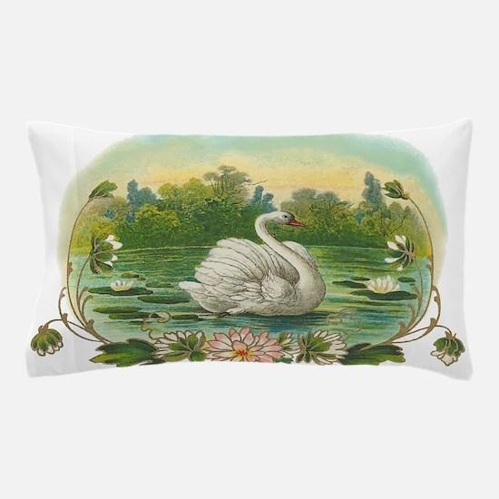 Swimming Swan Pillow Case