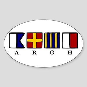 ARGH Sticker (Oval)