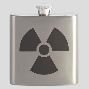 Radiation Warning Symbol Flask