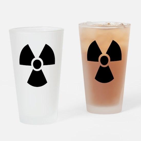 Radiation Warning Symbol Drinking Glass