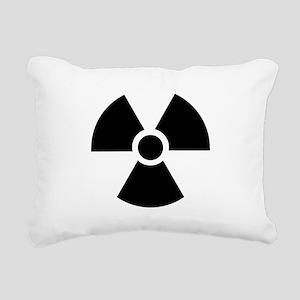 Radiation Warning Symbol Rectangular Canvas Pillow