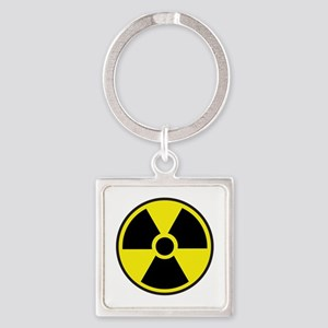 Radiation Warning Symbol Square Keychain