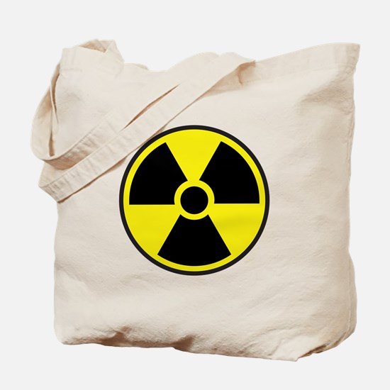 Radiation Warning Symbol Tote Bag