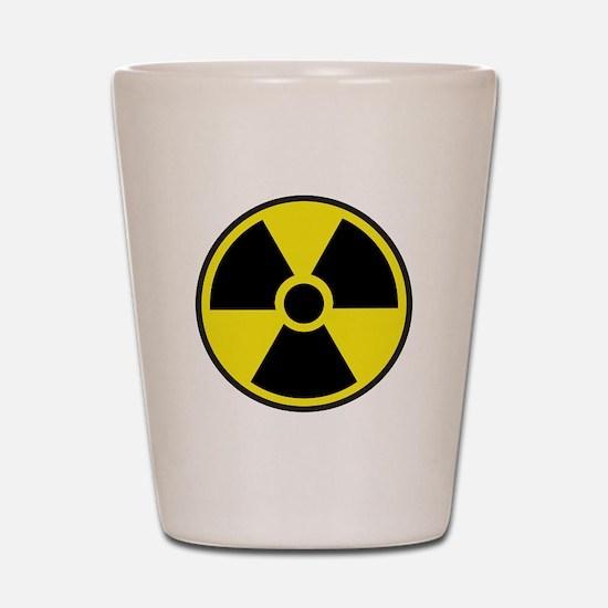 Radiation Warning Symbol Shot Glass