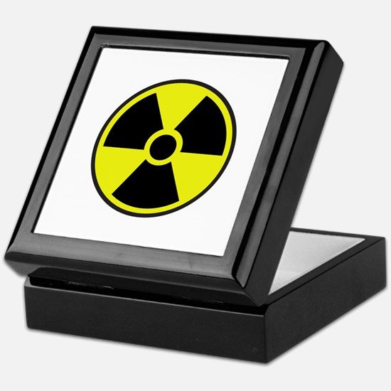 Radiation Warning Symbol Keepsake Box