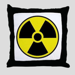 Radiation Warning Symbol Throw Pillow