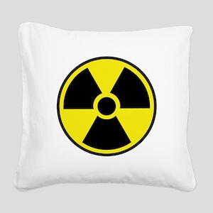 Radiation Warning Symbol Square Canvas Pillow