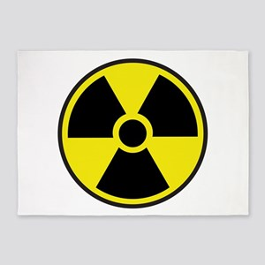 Radiation Warning Symbol 5'x7'Area Rug