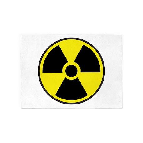 Radiation Warning Symbol 5'x7'Area Rug