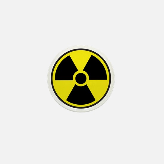 Radiation Warning Symbol Mini Button