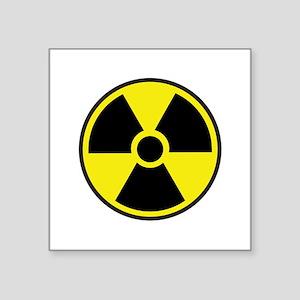 "Radiation Warning Symbol Square Sticker 3"" x 3"""