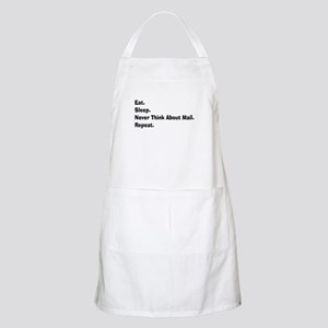 Retired USPS eat sleep never think mail Apron