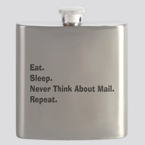 Retired USPS eat sleep never think mail Flask