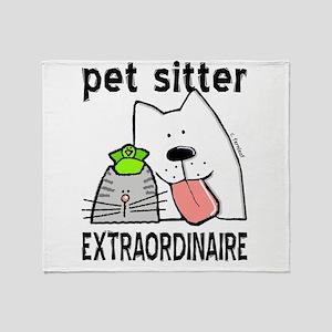 Pet Sitter Extraordinaire Throw Blanket