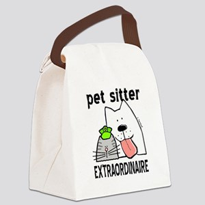 Pet Sitter Extraordinaire Canvas Lunch Bag