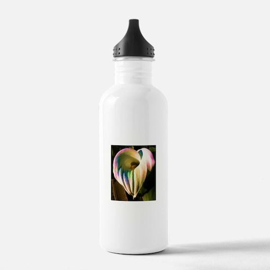 Multi-colored Calla Lily Water Bottle