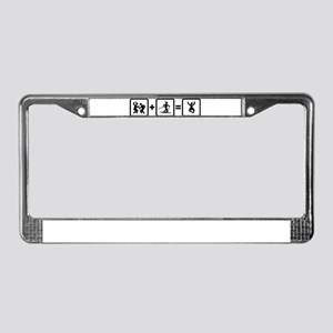 Cross Country Skiing License Plate Frame