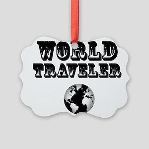 World Traveler Picture Ornament