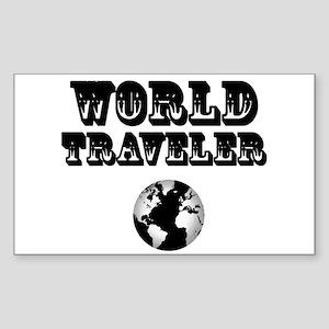 World Traveler Sticker (Rectangle)