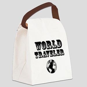 World Traveler Canvas Lunch Bag