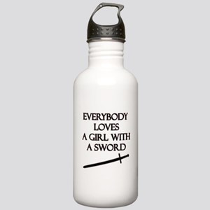 Girl With a Sword Stainless Water Bottle 1.0L