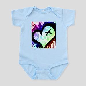 Rainbow Heart Paint Splatter Infant Bodysuit