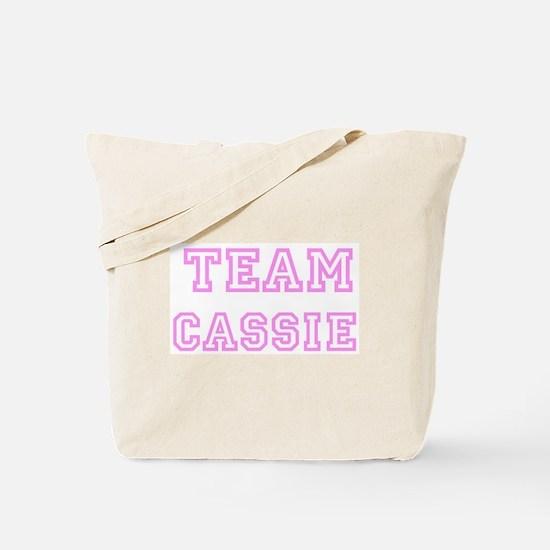 Pink team Cassie Tote Bag