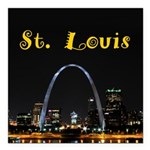 "St. Louis Square Car Magnet 3"" x 3"""
