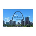 St. Louis Rectangle Car Magnet