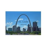 St. Louis Rectangle Magnet (100 pack)
