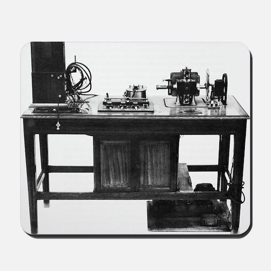 Electrocardiograph, 20th century - Mousepad