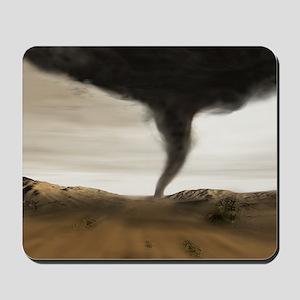 Computer illustration of a tornado - Mousepad