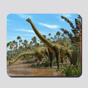 Brachiosaurus dinosaurs - Mousepad